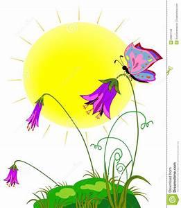 Blumen Bilder Gemalt : gemalte wiese mit der sonne den blumen und den schmetterlingen stockfotos bild 29807143 ~ Orissabook.com Haus und Dekorationen