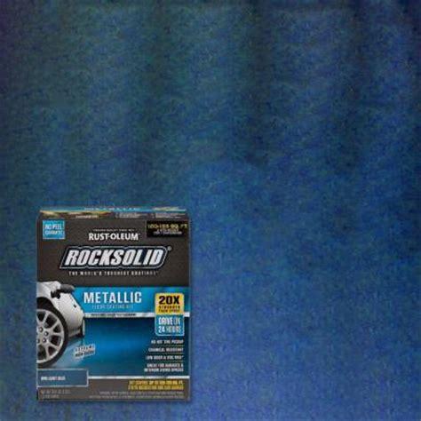 rust oleum rocksolid garage floor coating kit rust oleum rocksolid 70 oz metallic brilliant blue garage