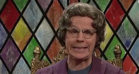 snl resurrects  church lady  smack  satan ted