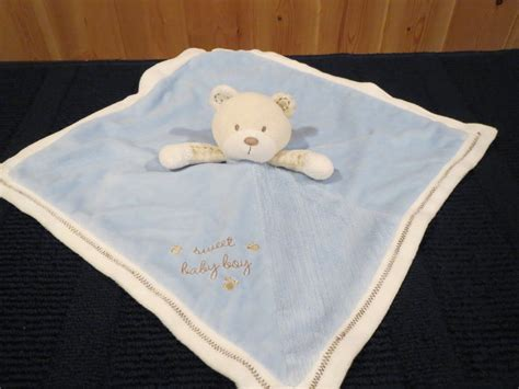 Carters Just One Year Sweet Baby Boy Blue Security Blanket Blue Bear Waterproof Blankets Canada What Size Weighted Blanket For 2 Year Old Sports Babies Small Knitted Doll Patterns Mink Baby Cellular Moses Basket Do Feel Like Fleece Sleepers Toddlers