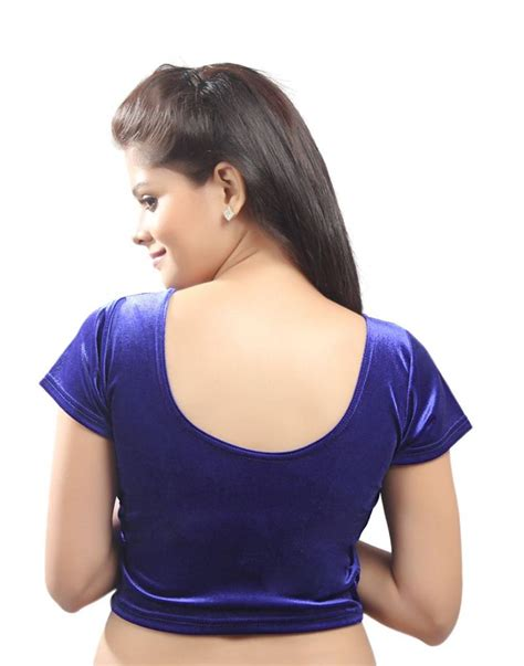 stretchable blouse buy royal blue velvet stretchable blouse size xl