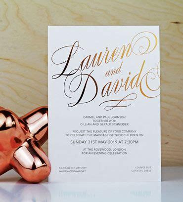 foil wedding stationery uk  foil invite company