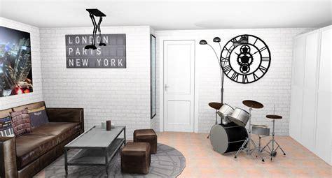 chambre ado style industriel idee peinture chambre ado