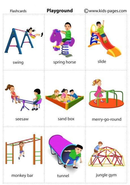 Kids Pages  Playground  Eslell  Pinterest  Playground, English And Flashcard