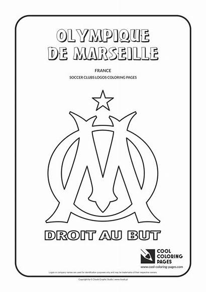 Coloring Pages Marseille Cool Logos Olympique Club