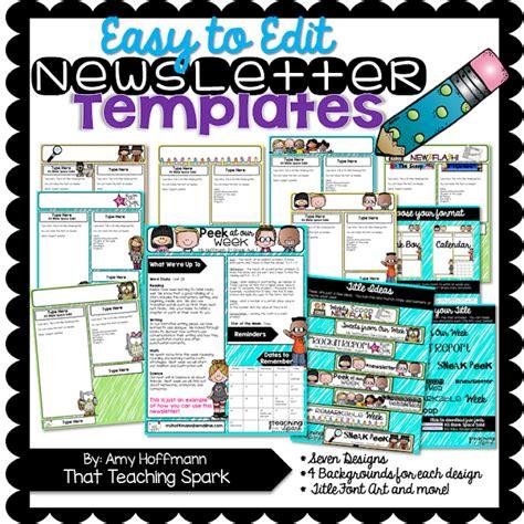 free editable newsletter templates editable newsletter pack and winners that teaching spark