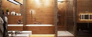 Salle De Bain En Bois : le bois s invite dans la salle de bain astuces bricolage ~ Teatrodelosmanantiales.com Idées de Décoration