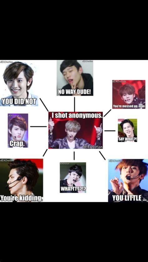 Exo Meme - exo meme chanyeol s face as always idiots pinterest