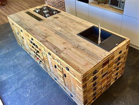 kitchen island made out of pallets wooden pallets repurposed kitchen island wood pallet 9414