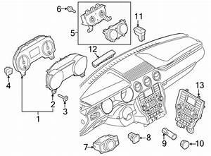 Ford Mustang Instrument Cluster Gauge Bezel  W  Instrument