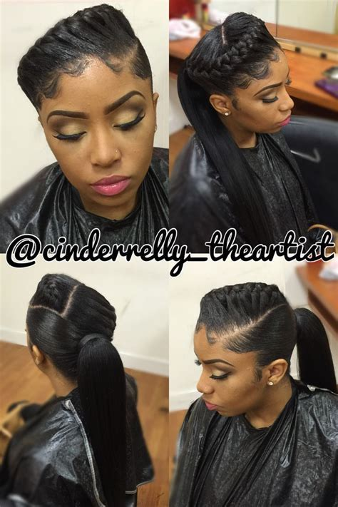 Pretty hairstyles for Ponytail Hairstyles With Weave best