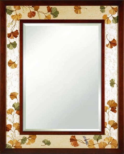 gingko leaves mirror  hudson river inlay mirror