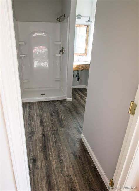 water resistant floor flooring in the bathroom and laundry room