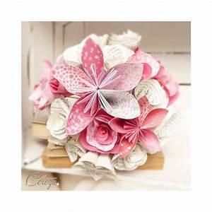 Fleurs Pour Mariage : bouquet mariage atypique fleurs de papier original rose rouge ~ Dode.kayakingforconservation.com Idées de Décoration