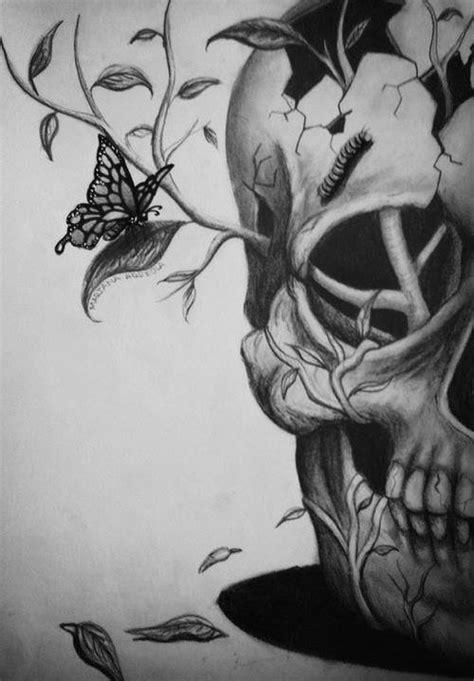 skull drawing on Tumblr