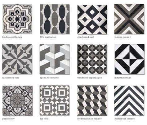 moroccan tile encaustic cement tile black white grey