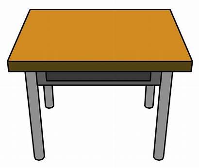 Desk Table Clipart Student Desks Clean Animated