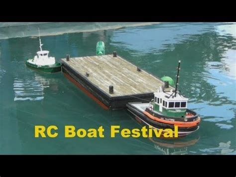 Sleepboot Rc by Rc Model Tugboat And Barge Youtube