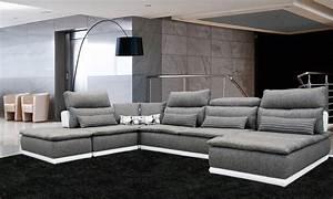 Canapé Modulable Tissu : canap universal modulable en cuir et tissu vente meubles et mobilier design toulon tendance ~ Teatrodelosmanantiales.com Idées de Décoration