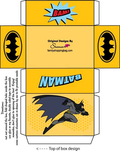 Batman Gift Box Template by 533 Best Images About Free Printable Boxes On Pinterest