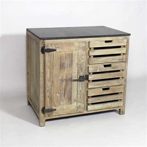 meuble cuisine bois recycl 233 poign 233 es type frigo made in