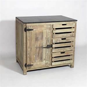 cuisine bois recycle wrastecom With meuble bas maison du monde 7 cuisine bois recycle avec plateau en pierre bleue