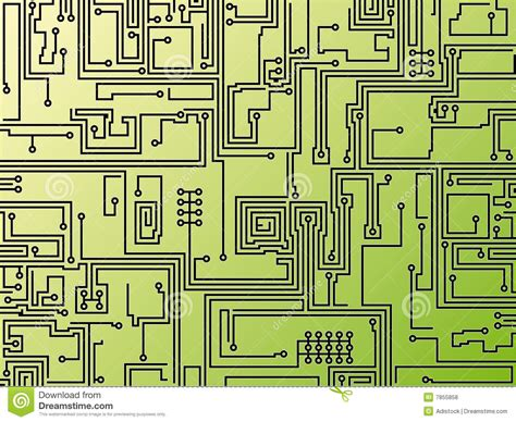 Circuit Board Background Vector Stock Image