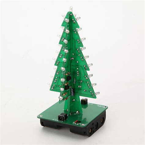 3d 3 colours led christmas tree flash kit electronic