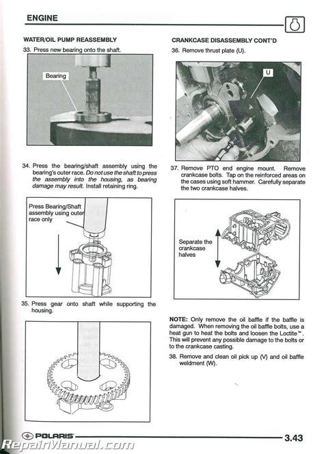 polaris sportsman   twin atv service manual