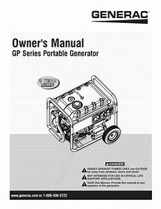 Generac Gp6500e 5941 1 User Manual Generator Manuals And Guides 1211476l
