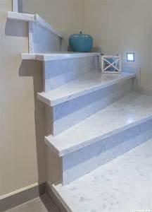 Marbre Blanc De Carrare : escalier pierre naturelle bleue belgique interieur design ~ Dailycaller-alerts.com Idées de Décoration