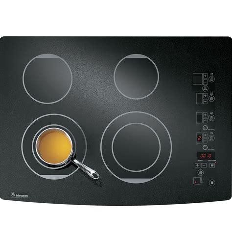 zeurbfbb ge monogram  digital electric cooktop  monogram collection