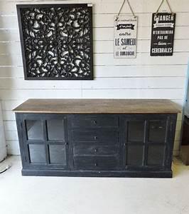 Meuble Bois Et Noir : meubles manguier et bois recycle ~ Dailycaller-alerts.com Idées de Décoration