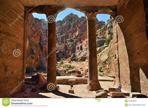 Archeological Site Petra Jordan Stock Photo Image Of