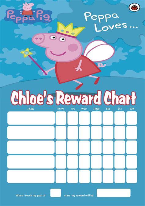 personalised peppa pig reward chart adding photo option