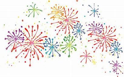 Fireworks Clipart Firework Transparent Clear Celebration Colorful