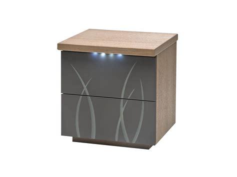 trouver un hotel avec dans la chambre table de chevet 2 tiroirs flora laque carbone gris