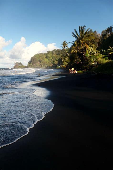 black sand papenoo tahiti tahiti places beach