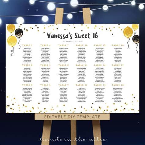 wedding seating chart template sweet  birthday festive