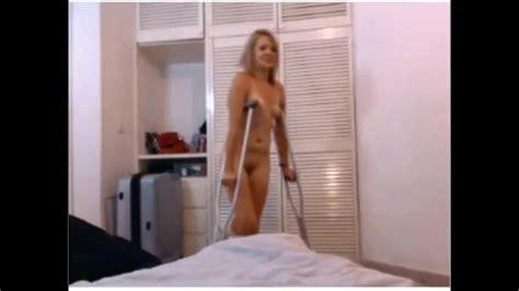 Naked And Crutching Slc Short Leg Cast