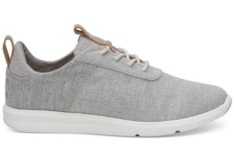 drizzle grey chambray mix 39 s cabrillo sneakers toms