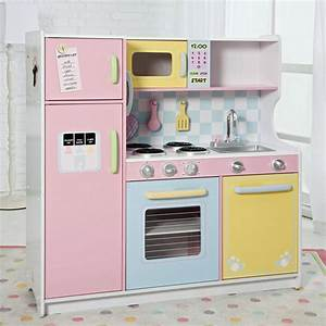 good wood play kitchen sets homesfeed With kitchen colors with white cabinets with kids love stickers com