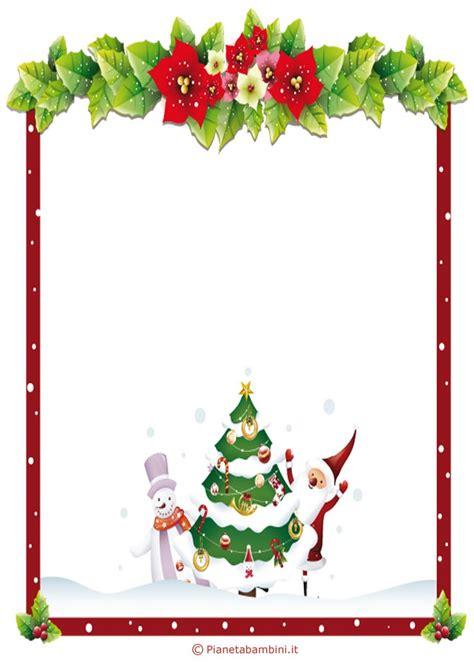 Cornice Natalizia Word Lettera A Babbo Natale Versione 6 Da Stare Gratis