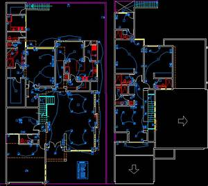 Residential Electric Project Plan In Autocad