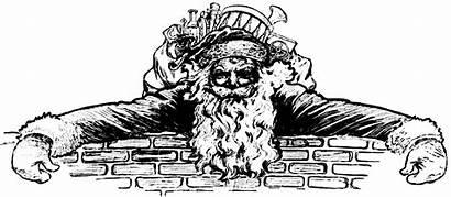 Clipart Clip Santa Christmas Header Victorian Fancy