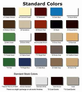 Dow 795 Color Chart Skylight Finishes Skylight Coating Skylight Colors