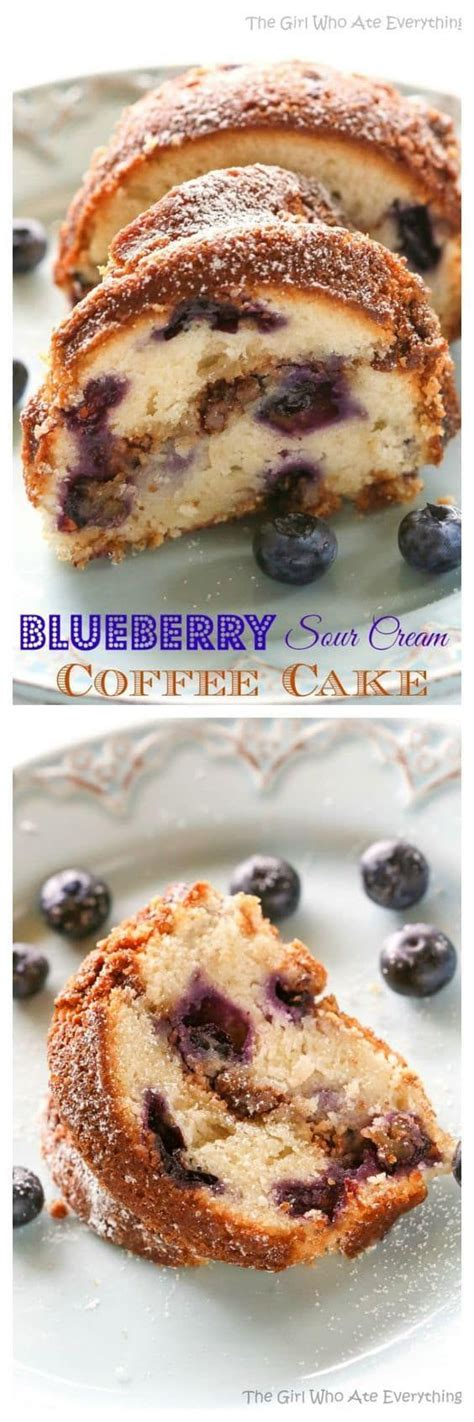 These muffins, however, use the creaming method, meaning that softened butter and sugar are beaten i'm really just so smitten with these blueberry coffee cake muffins. Blueberry Sour Cream Coffee Cake   Recipe   Sour cream coffee cake, Blueberry recipes, Coffee cake