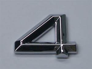 chrome letters and numbers prismatic no minimum order With chrome stick on letters