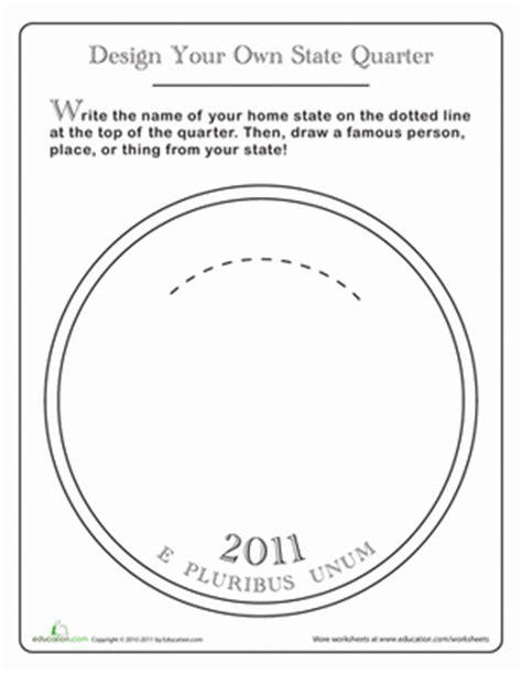coin design template design a state quarter worksheet education