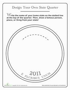 Design a state quarter worksheet educationcom for Military coin design template